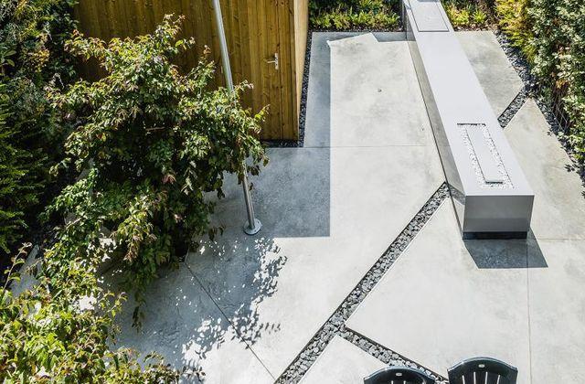 Moderne tuin bij houtskeletbouw realisaties groenbedrijf van